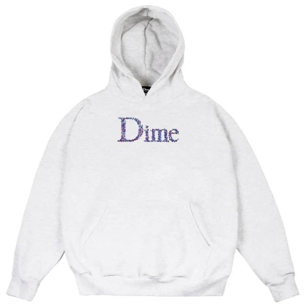 Dime Scribble Classic Logo Hoodie - Ash | Hoodie by Dime 1