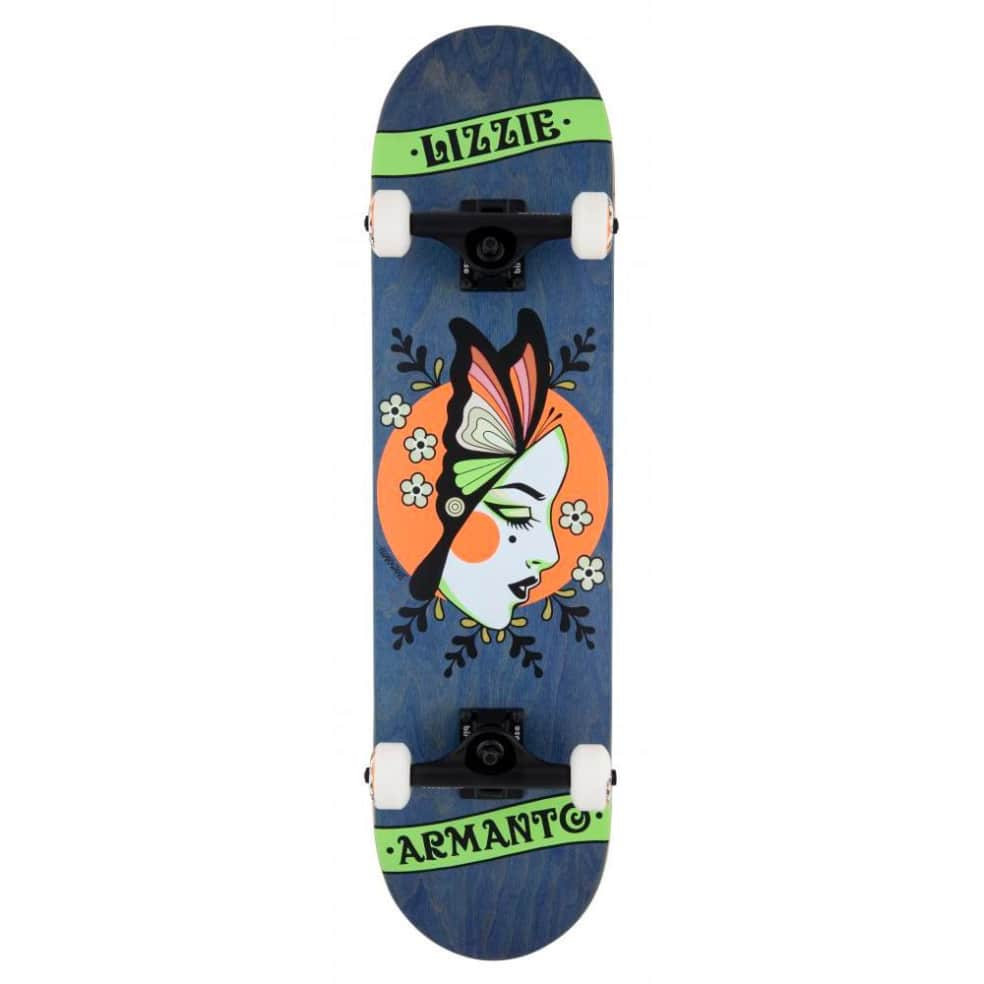"""Birdhouse - Lizzie Armanto Butterfly Complete Skateboard 8"""" Wide   Complete Skateboard by Birdhouse 1"""