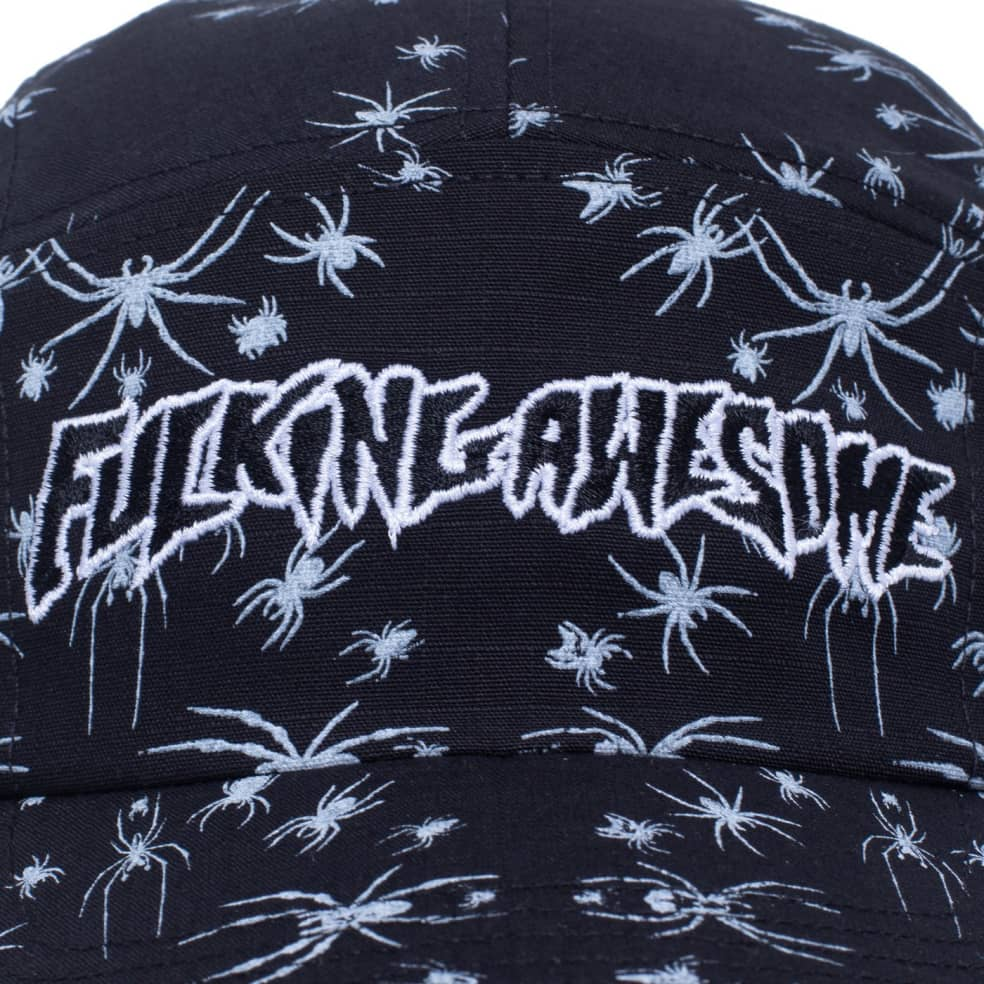 Fucking Awesome Spider Stamp Volley Strapback - Black   Baseball Cap by Fucking Awesome 3