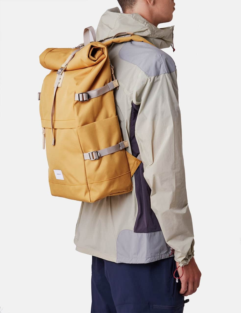 Sandqvist Bernt Backpack - Yellow/Natural Leather | Backpack by Sandqvist 2