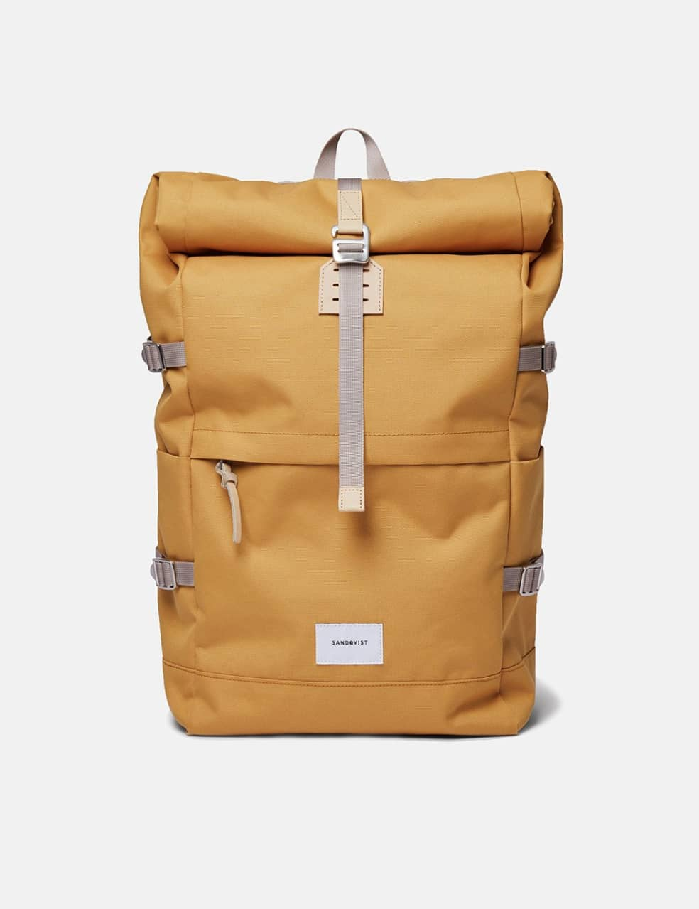 Sandqvist Bernt Backpack - Yellow/Natural Leather | Backpack by Sandqvist 1