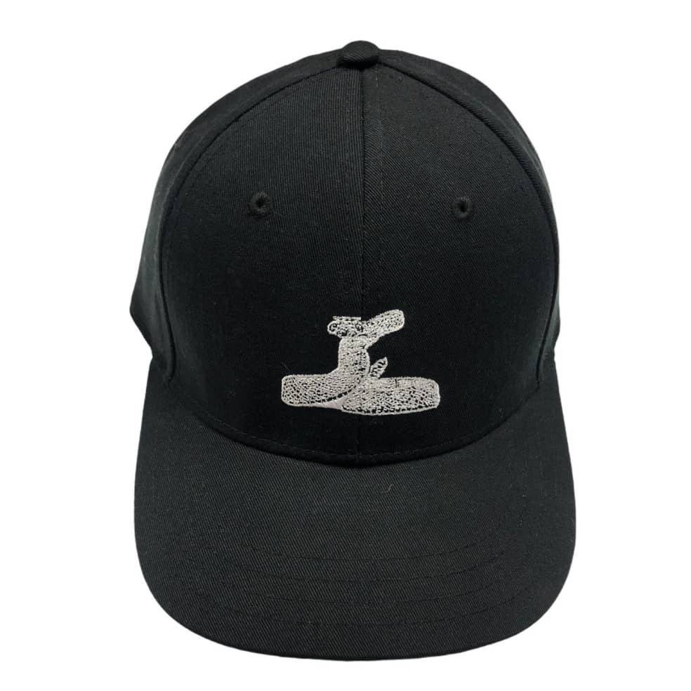 RELIEF RATTLE SNAKE 6 PANEL BLACK   Baseball Cap by Relief Skate Supply 1