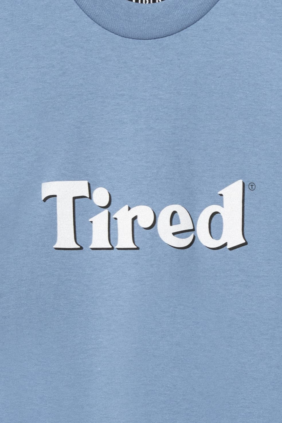 Tired Bloody Tired T-Shirt - Dusty Blue | T-Shirt by Tired Skateboards 3