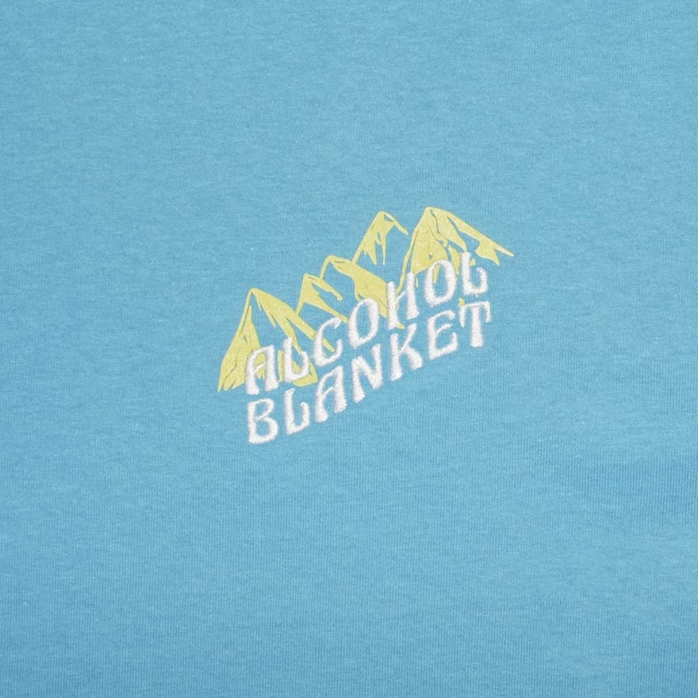 Alcohol Blanket Mountain T-Shirt - Blue | T-Shirt by Alcohol Blanket 3