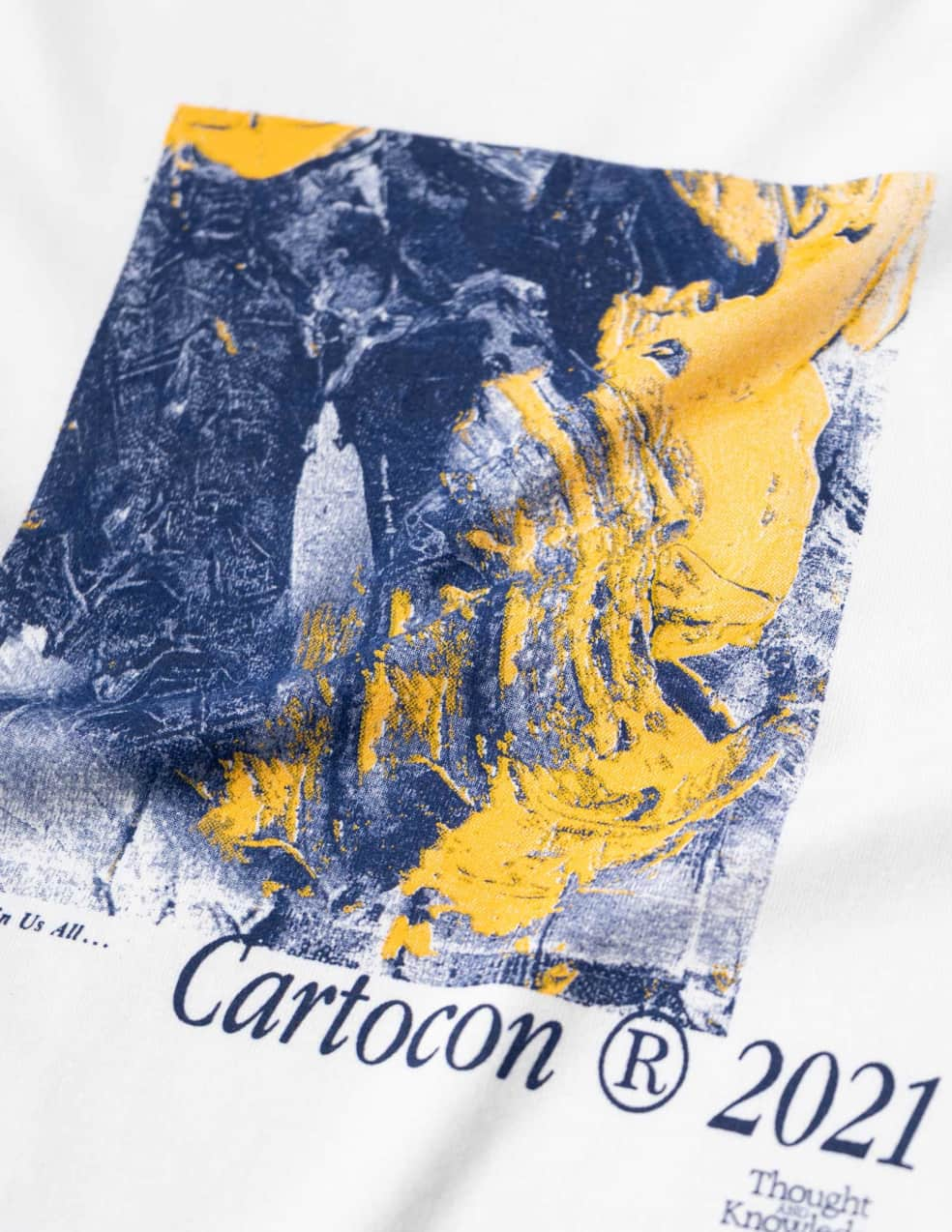 CARTOCON Thought & Knowledge T-Shirt - White   T-Shirt by Cartocon 2