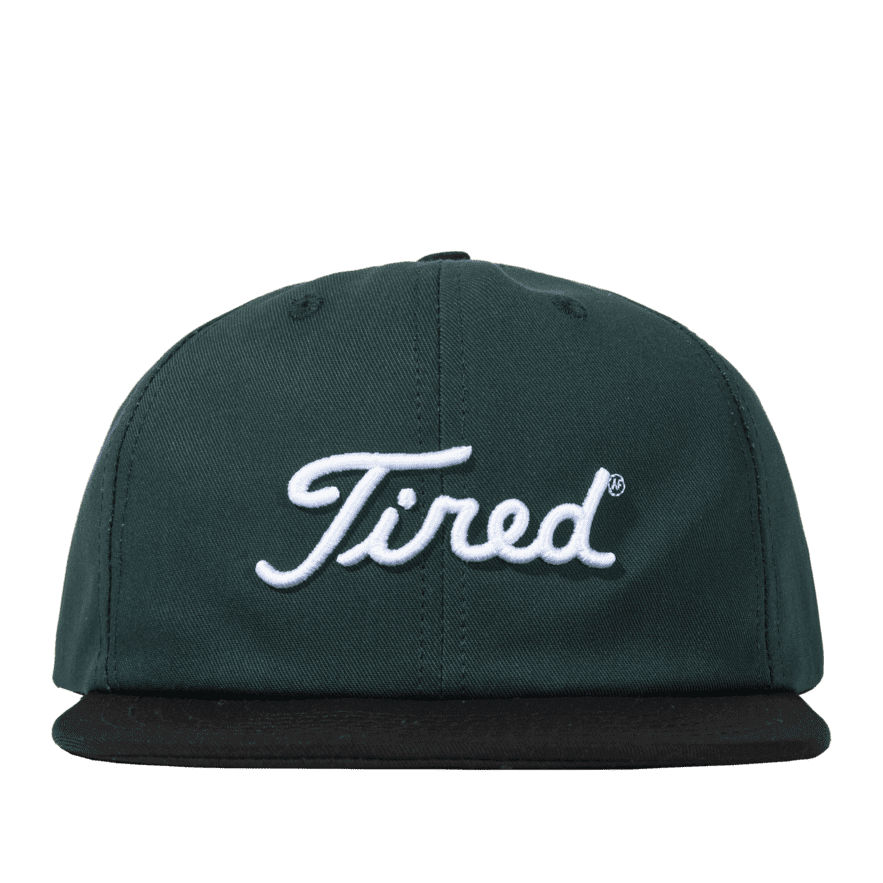 Tired Golf Logo Cap - Green / Black | Snapback Cap by Tired Skateboards 1