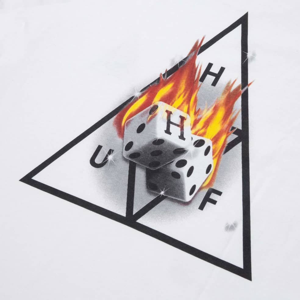 HUF Hot Dice Triple Triangle T-Shirt - White   T-Shirt by HUF 3