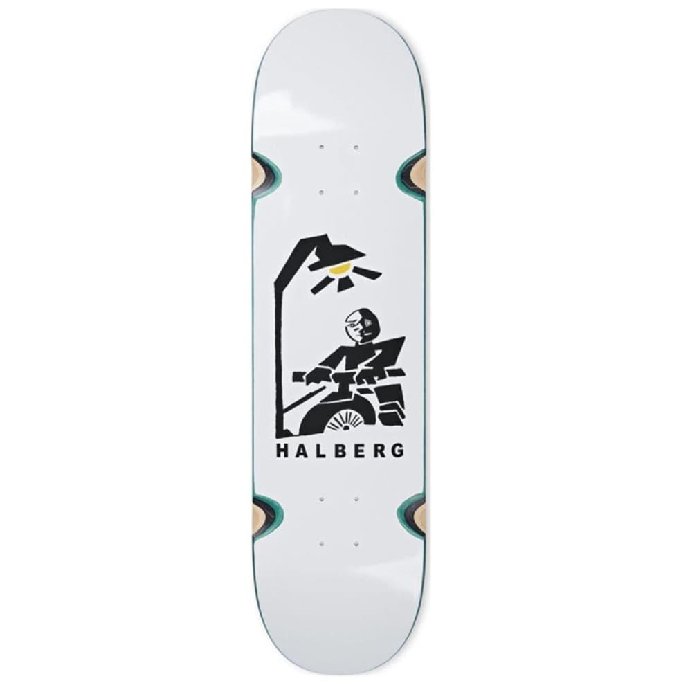 "Polar Halberg Insomnia White Wheel Wells Skateboard Deck - 8.25""   Deck by Polar Skate Co 1"