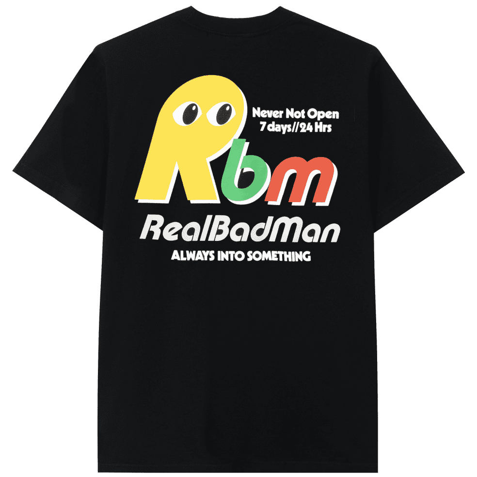 Real Bad Man Never Not Open Short Sleeve T-shirt - Black | T-Shirt by Real Bad Man 1
