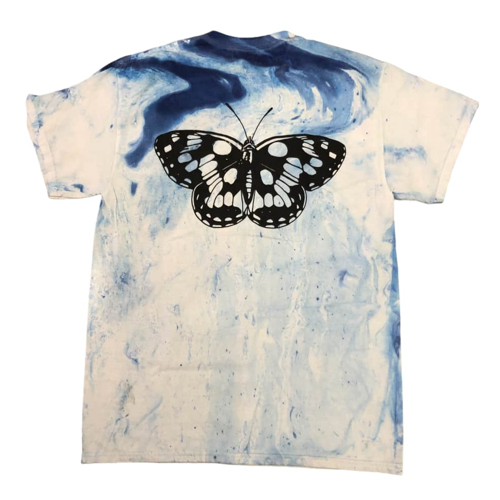 RELIEF BUTTERFLY MARBLE TIE DYE TEE BLUE   T-Shirt by Relief Skate Supply 1