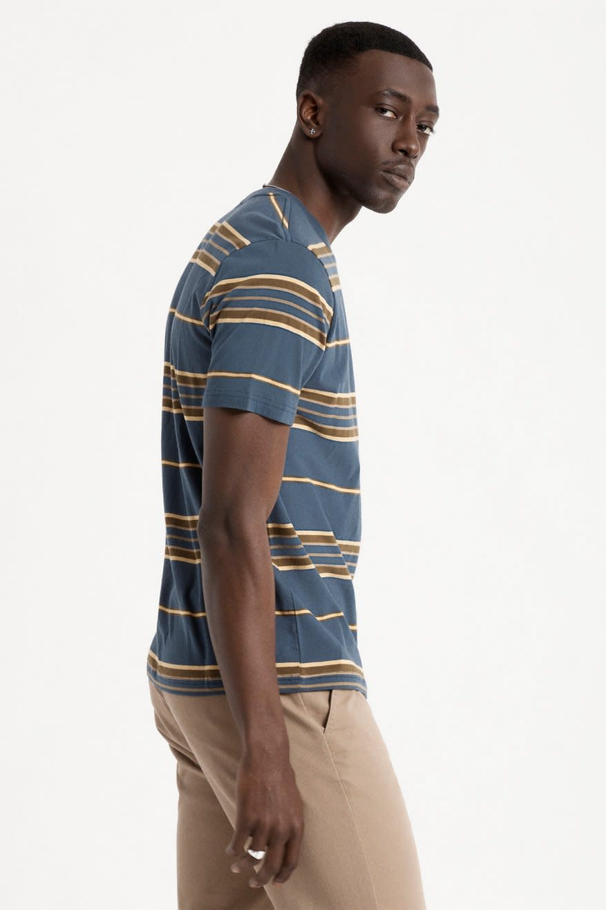 BRIXTON HILT S/S POCKET KNIT - WASHED NAVY/BLONDE | T-Shirt by Brixton 3