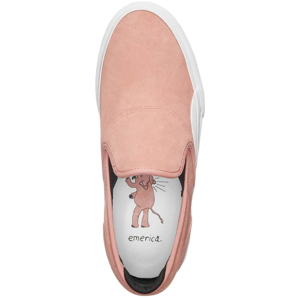 Emerica Wino G6 Slip Skate Shoes - Pink / White | Shoes by Emerica 3