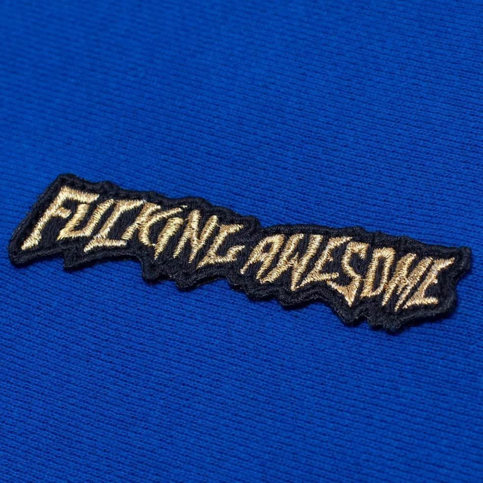 Fucking Awesome Little Stamp Hoodie - Royal   Hoodie by Fucking Awesome 2
