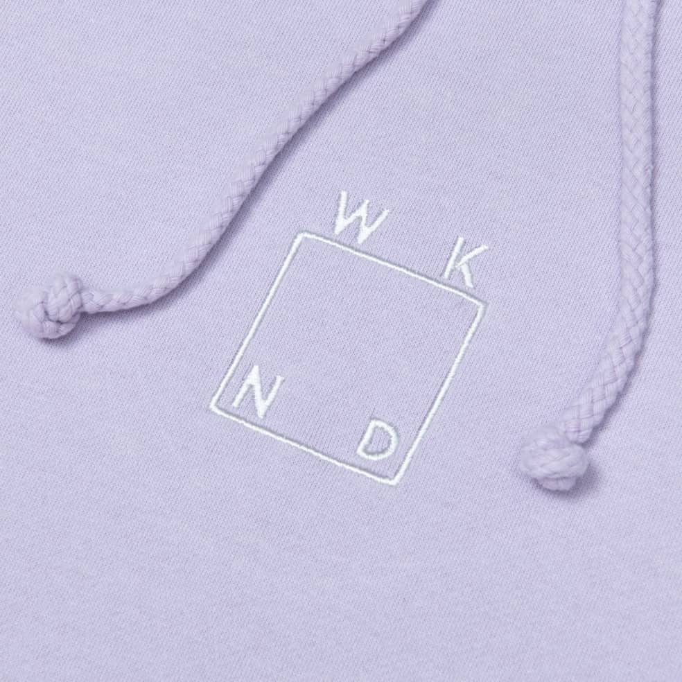 WKND Embroidered Logo Hoodie - Lavender | Hoodie by WKND 2