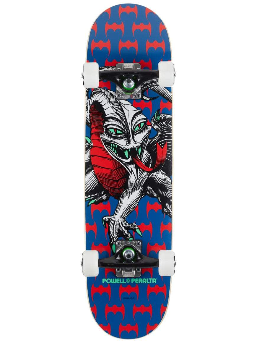 """Powell Peralta Cab Dragon Navy Complete Skateboard - Mini (7.5"""" x 28.65"""") 