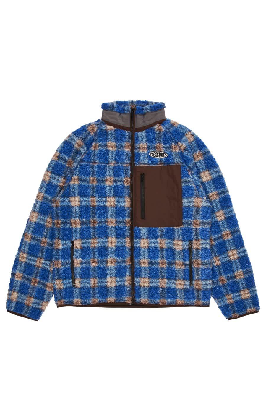Blue Wraith Fleece Jacket   Jacket by Pleasures 1