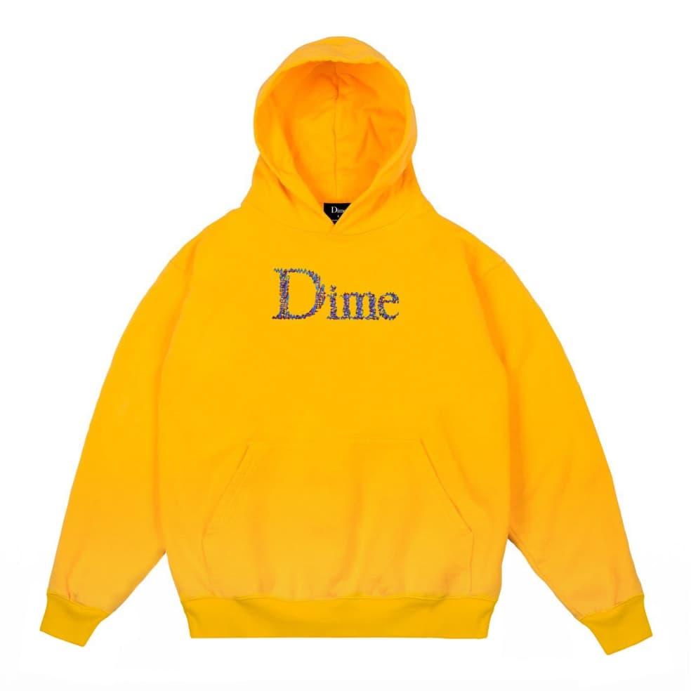 Dime Scribble Classic Logo Hoodie - Yellow | Hoodie by Dime 1