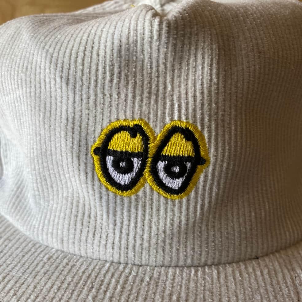 Krooked - Eyes Hat - White | Baseball Cap by Krooked Skateboards 2