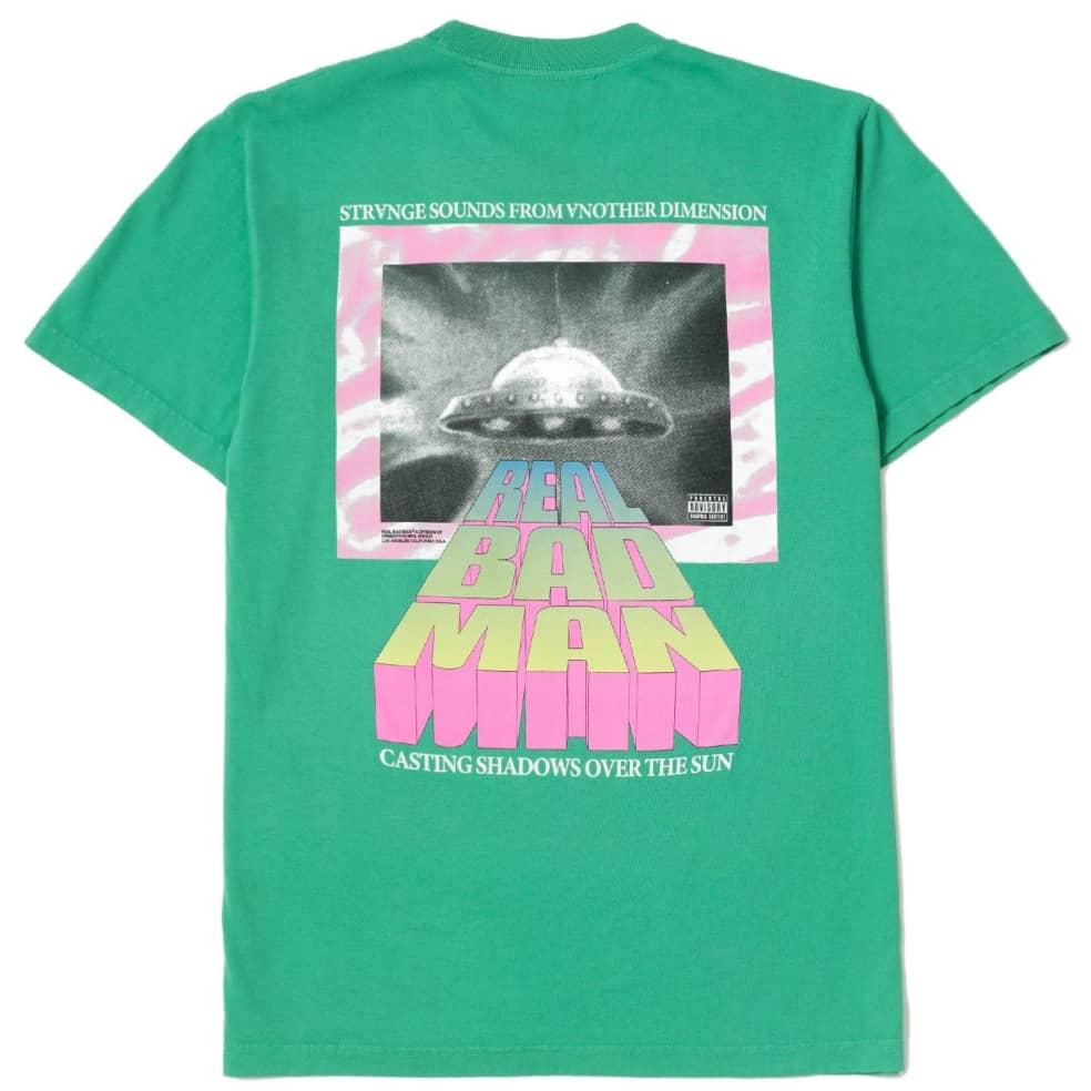Real Bad Man Strange Sounds T-Shirt - Funk Green   T-Shirt by Real Bad Man 1