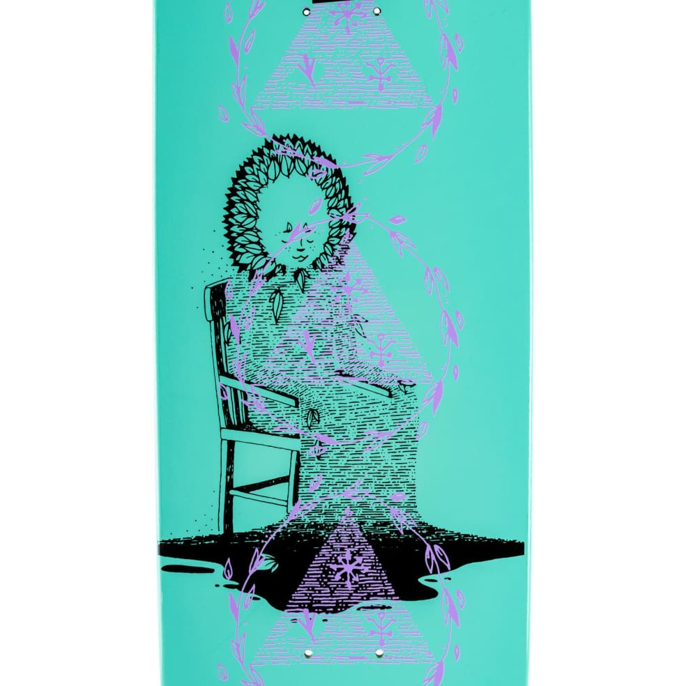 """Welcome Nora Vasconcellos Soil On Wicked Queen Teal Dip Deck (8.6"""") 