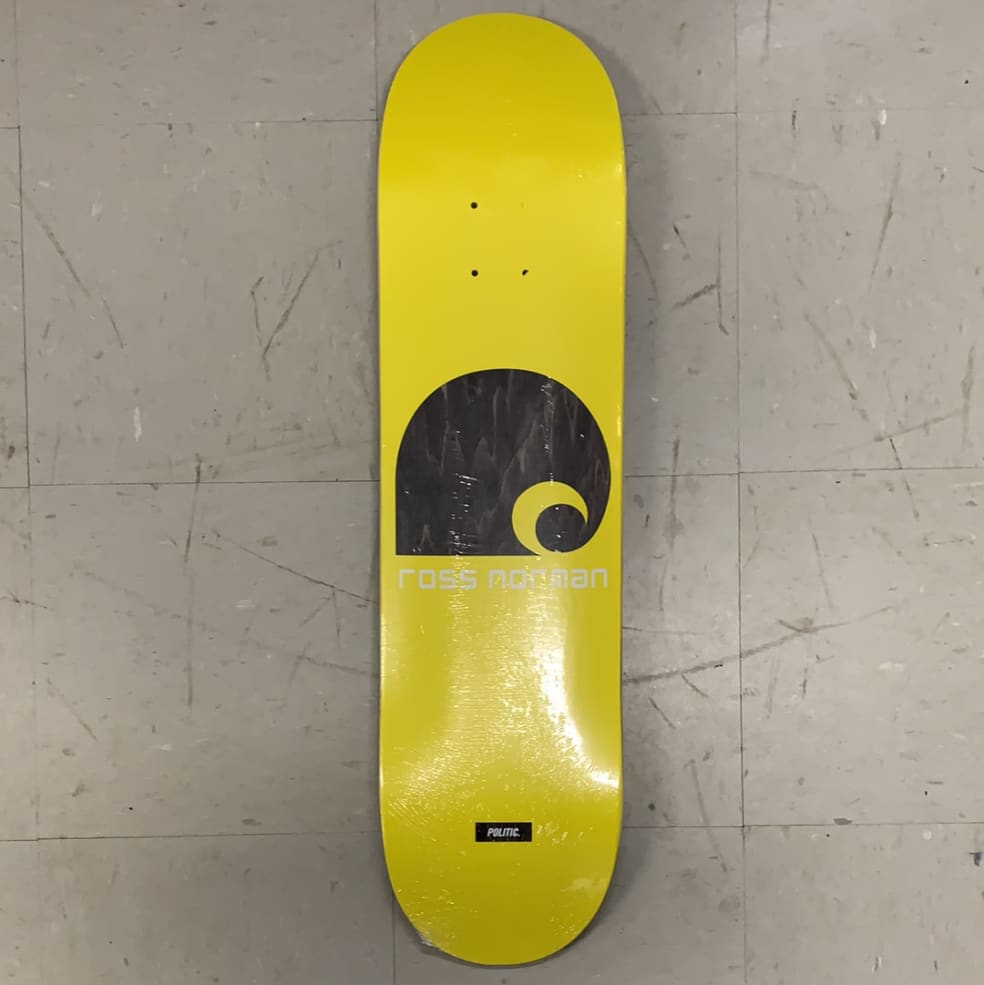 Politic Skateboards Ross Norman Hardcartt Deck | Deck by Politic 1