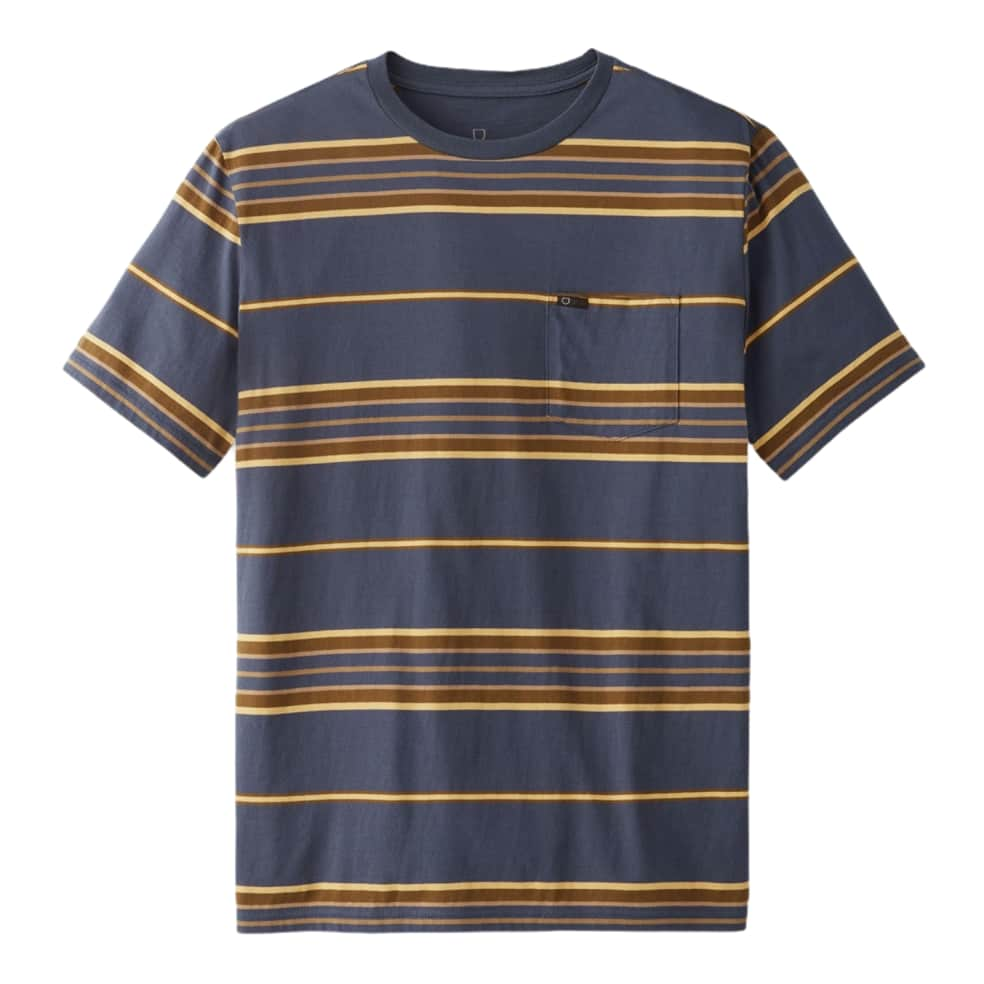 BRIXTON HILT S/S POCKET KNIT - WASHED NAVY/BLONDE | T-Shirt by Brixton 1