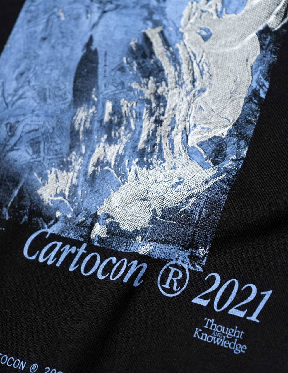CARTOCON Thought & Knowledge T-Shirt - Black   T-Shirt by Cartocon 2