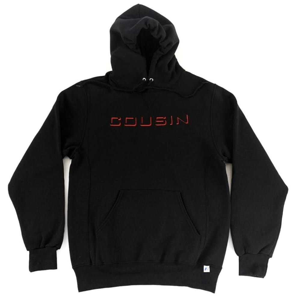 Cousin Records CR Hoodie - Black | Hoodie by Cousin Records 1