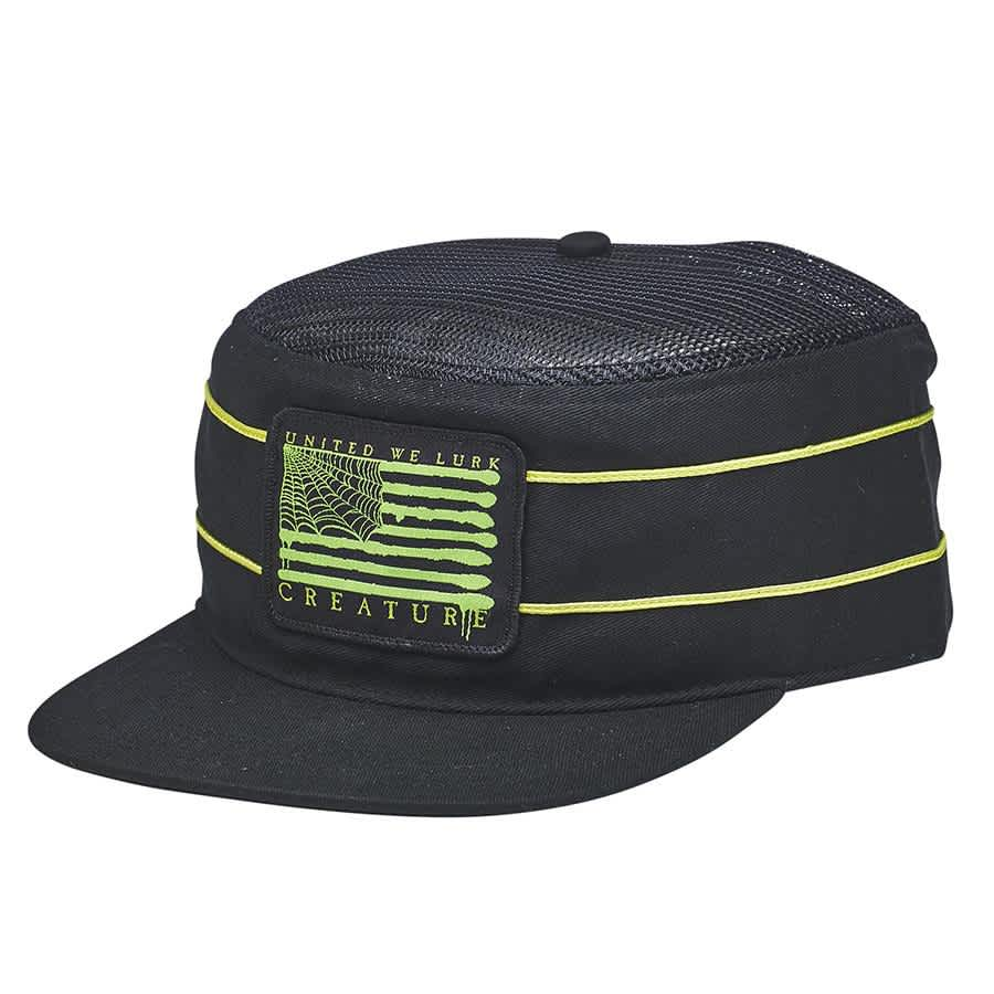 Creature Lurk With Us Snapback Hat Black | Snapback Cap by Creature Skateboards 1