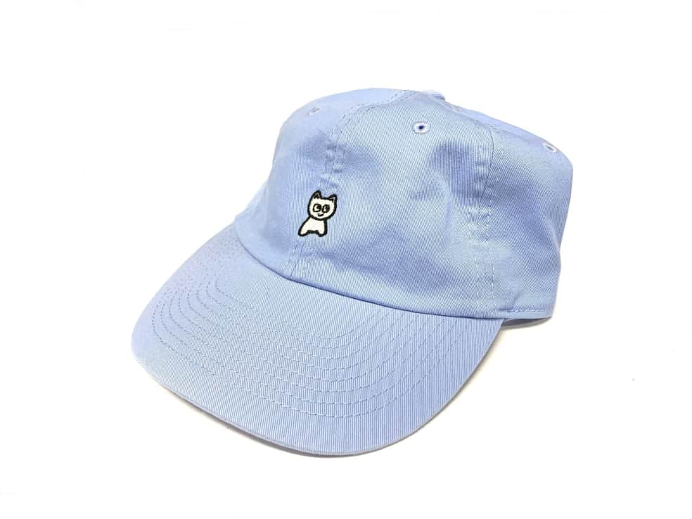 Meow Skateboards Unstructured Baby Blue Hat Strapback | Baseball Cap by Meow Skateboards 1