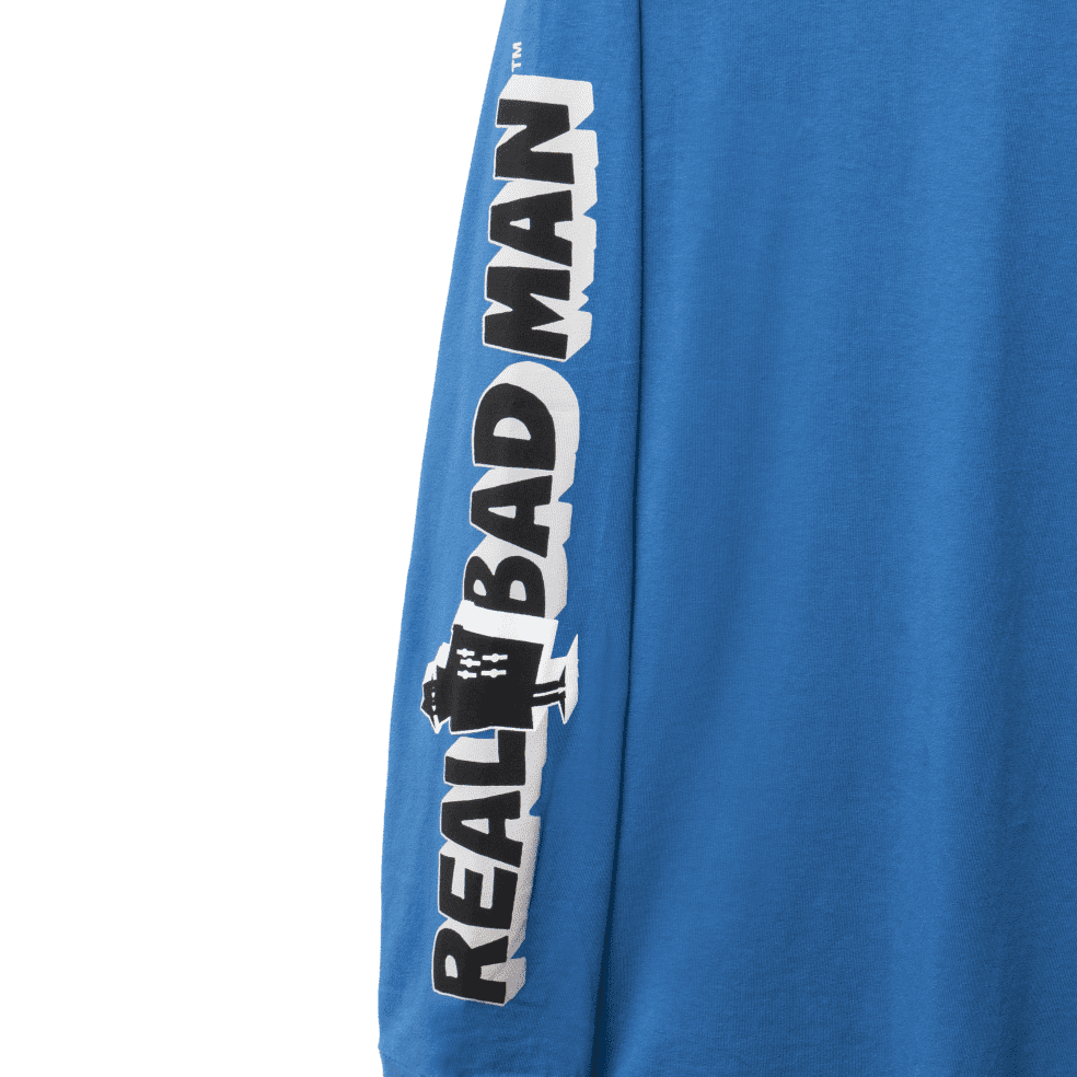 Real Bad Man Graphic Content Long Sleeve T-Shirt - Blusey | Longsleeve by Real Bad Man 3