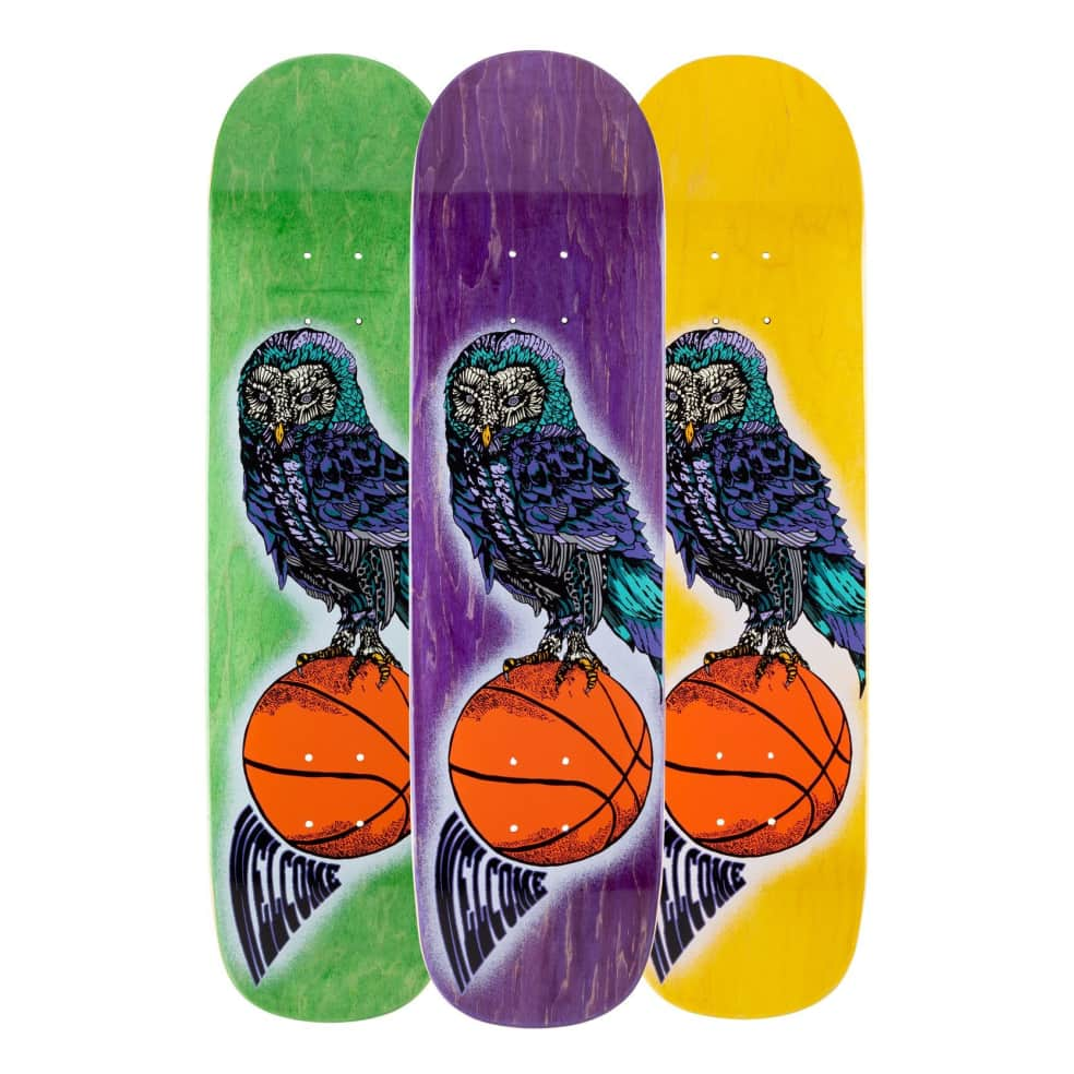 """Welcome Hooter Shooter on Bunyip Skateboard Deck (Various Stains) - 8"""" 