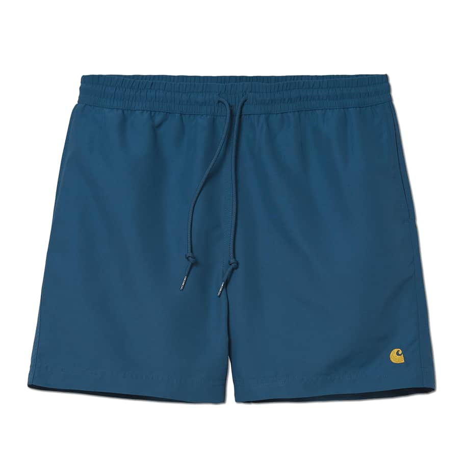 Carhartt WIP Chase Swim Trunks - Shore / Gold   Shorts by Carhartt WIP 1