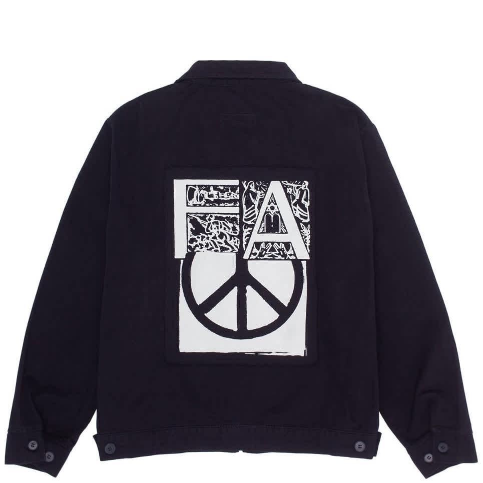 Fucking Awesome Peace Work Jacket - Black | Jacket by Fucking Awesome 1