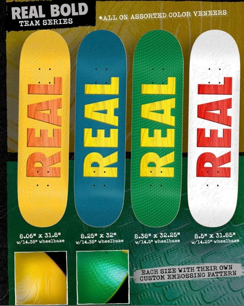 """Real Skateboards Bold Series 8.38"""" Deck   Deck by Real Skateboards 2"""