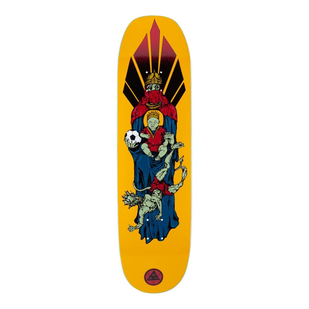 """Welcome Futbol On Moontrimmer 2.0 Deck (Gold) 8.5"""" 