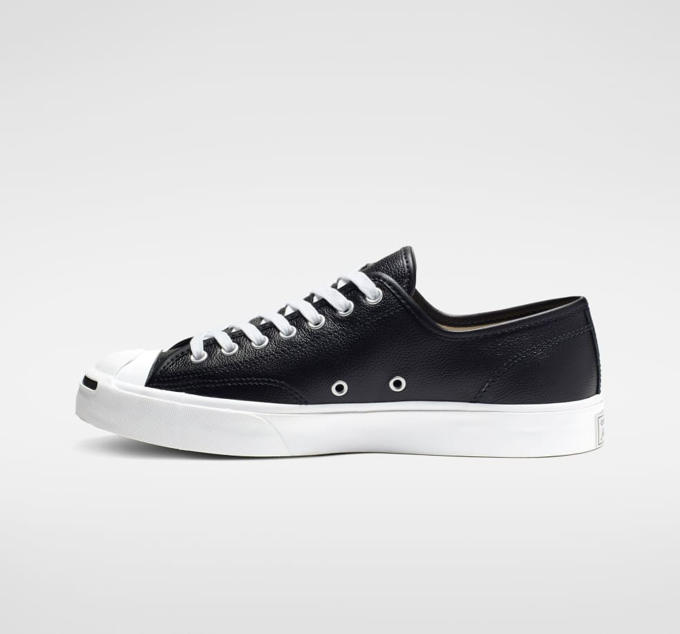 Converse Jack Purcell Leather Shoes - Black / White / White | Shoes by Converse Cons 3