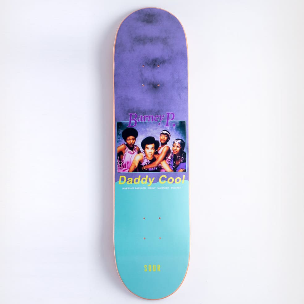 """Sour - 8.25"""" Barney - Daddy Cool   Deck by Sour Skateboards 1"""