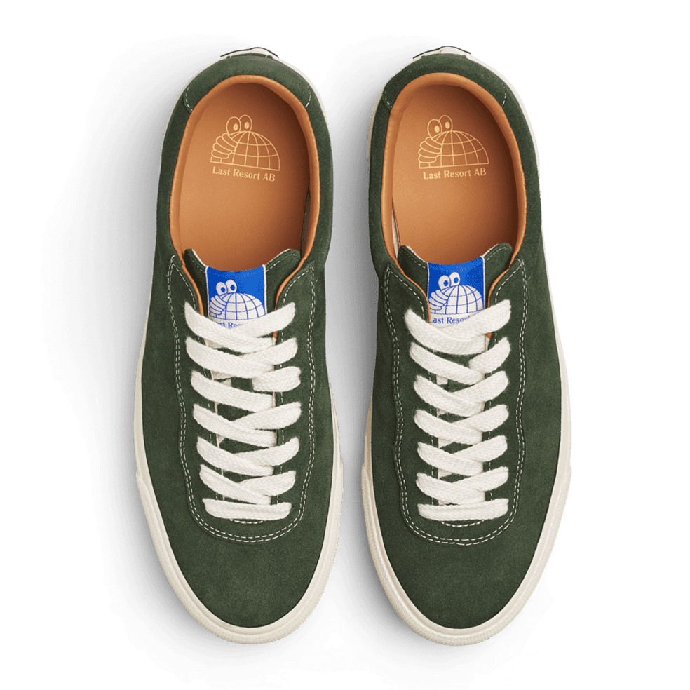Last Resort AB VM001 Suede Lo Skate Shoes - Olive / White   Shoes by Last Resort AB 3
