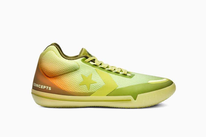 Converse X Concepts All Star BB Evo Mid Shadow -Lime / Green Oasis   Shoes by Converse Cons 1