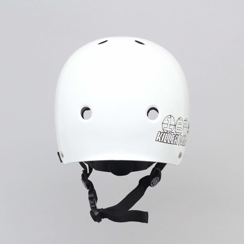 187 Killer Pads Certified Youth Helmet With Adjuster Gloss White | Helmet by 187 Killer Pads 3