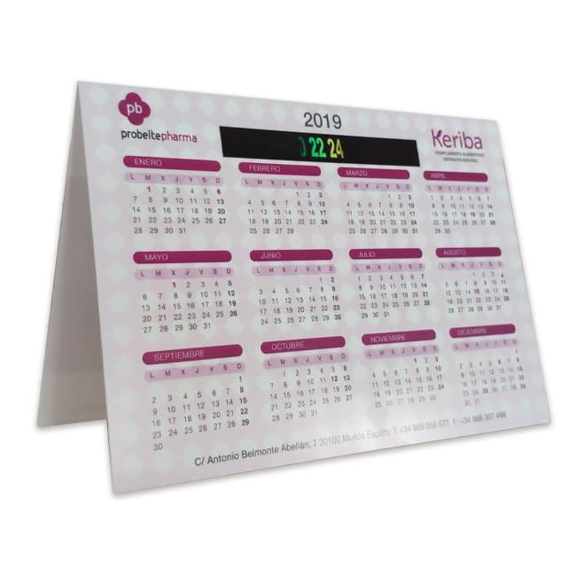 Calendario triangular para merchandising