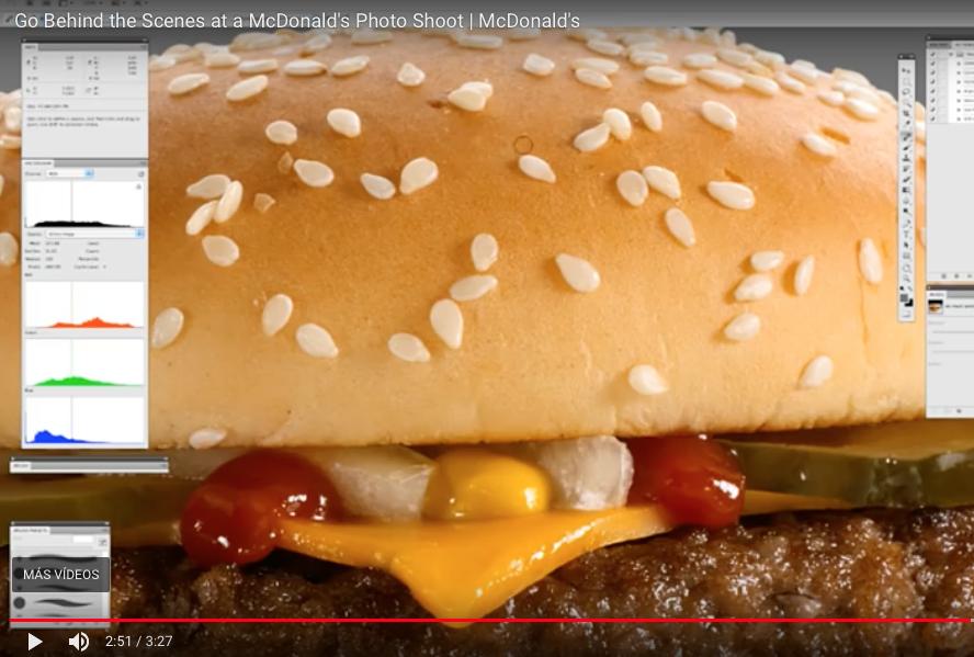 Curiosidades Marketing: Fotografías de comida REALIDAD VS FICCIÓN