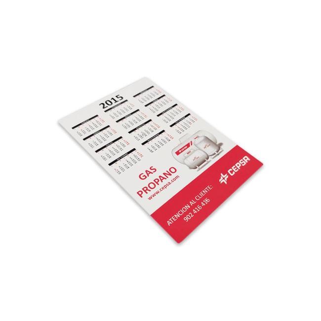 Calendario de bolsillo para merchandising