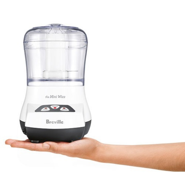 Breville Small and Compact Food Processor in Hand