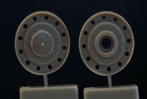 Ground wheels set for KV tanks (up to 1940)