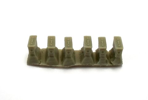 Ammunition box for machine gun band 7,62 mm (US), 6 pc