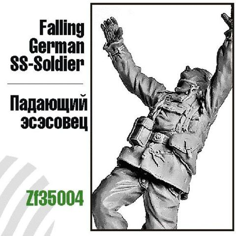 Falling German SS-Soldier
