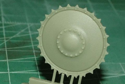 Pz.Kpfw. II Ausf A Drive Sprocket, 2pc (For MasterClub's tracks)