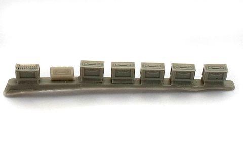 Ammunition box for machine gun band 12,7 mm (USA), 6 pc